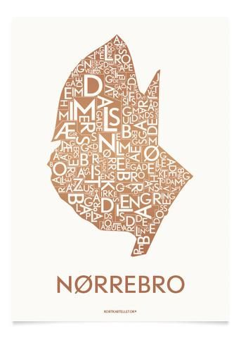 NØRREBRO - KOBBER - 40x55 CM