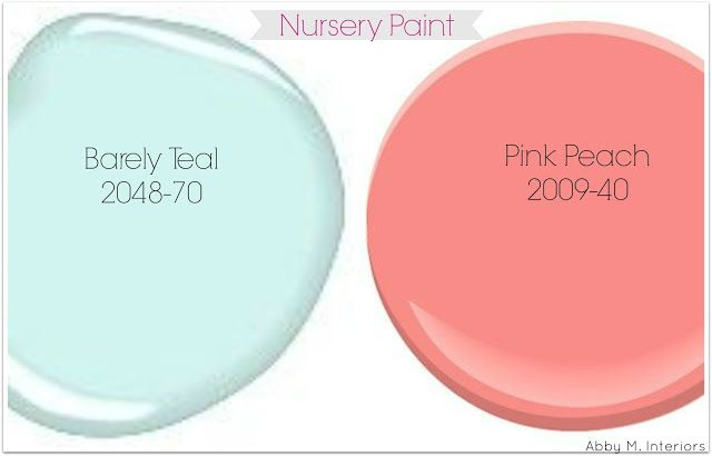 Abby M. Interiors: Coral and Teal Nursery Design Board: e-design