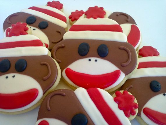 Hey, I found this really awesome Etsy listing at https://www.etsy.com/listing/109699391/sock-monkey-sugar-cookies-1-dozen