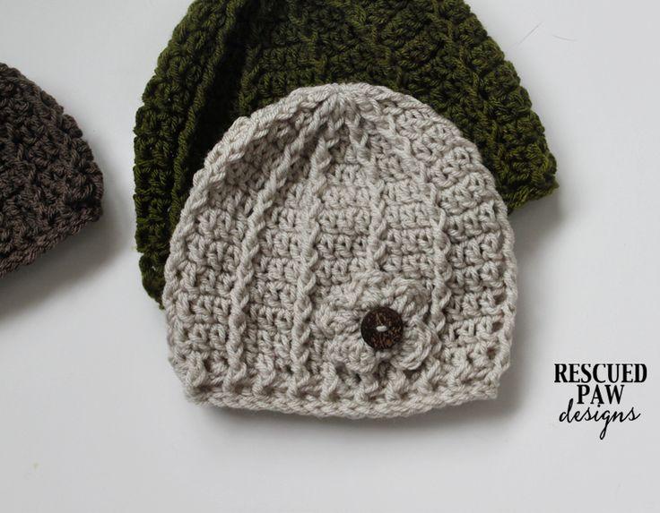 Free Crochet Pattern Swirl Hat by Rescued Paw Designs
