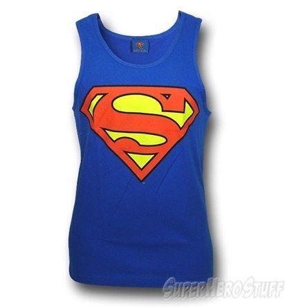 Superman Symbol Royal Blue Men's Tank Top $18.99