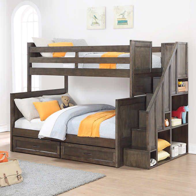 Ryan Twin Over Full Staircase Bunk Bed Bigger Boys Rooms