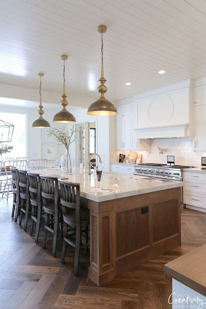 60 Amazing Kitchen Remodel Ideas That Everyone Need For Inspiration Farmhouse Kitchen Design Modern Farmhouse Kitchens Rustic Farmhouse Kitchen