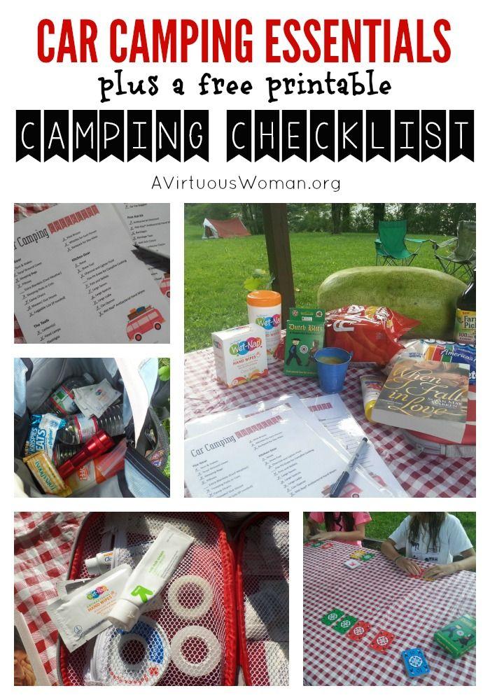 Free Printable Car Camping Checklist Cars Camping