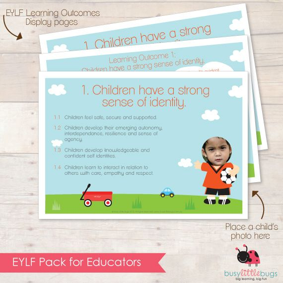 EYLF PACK for Educators Learning Outcomes