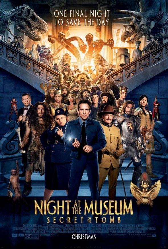Multitudinario el nuevo póster de 'Noche en el Museo: el secreto del Faraón'