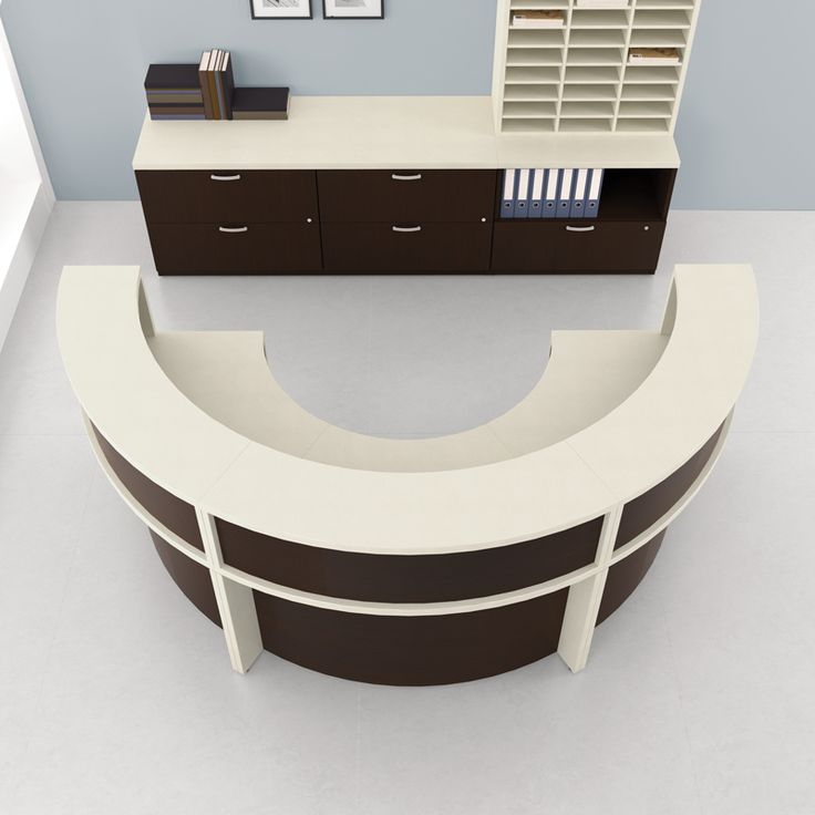 Semi Circular Desk Home fice Pinterest