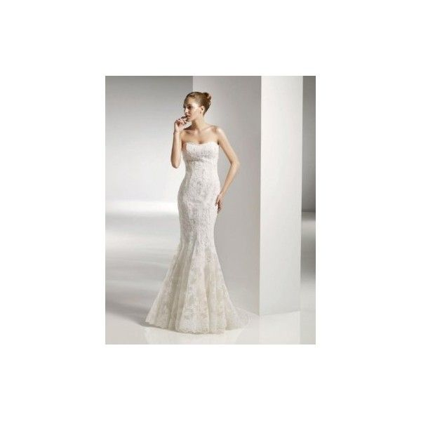 Beautiful Strapless A-line Tulle cheap free shipping cheap Anjolique Wedding Dress Style ANWD090509. #Aline, #Strapless, #Mermaid, #Wedding, #Gown, #Bridal. Only $237.00