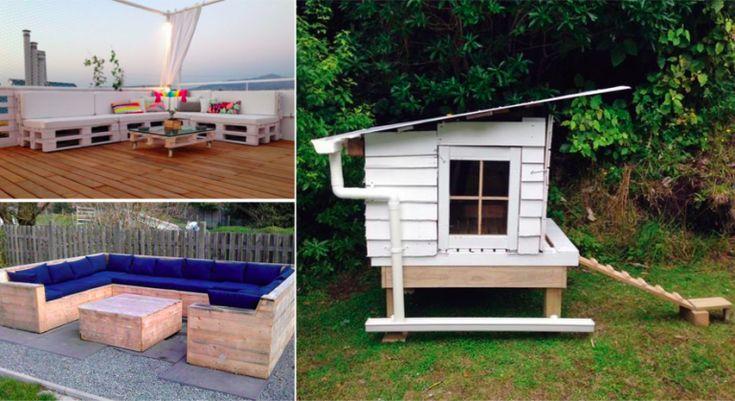 105 idées de meubles en palette pour votre jardin
