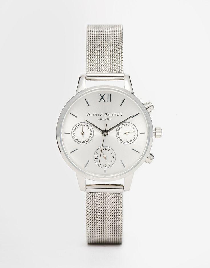 Image 1 ofOlivia Burton Silver Midi Dial Chronograph Watch
