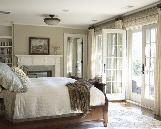 French Doors With Built In Curtains