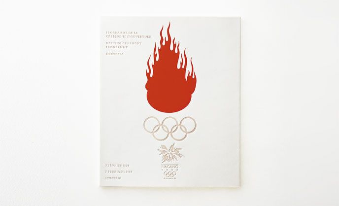 Programs for the Opening and Closing Ceremonys of the Nagano Winter Olympic Games | WORKS | HARA DESIGN INSTITUTE