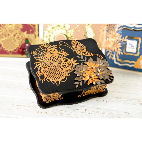 Tattered Lace Goldwork Lace Collection - Includes Web, Floral and Butterfly Dies (150593)   Create and Craft