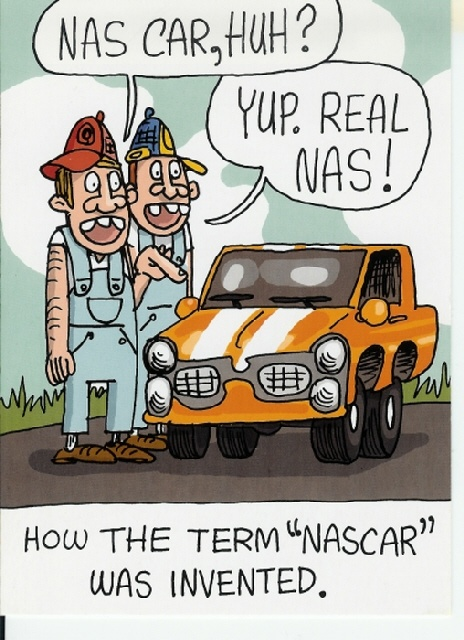 "How the term ""NASCAR"" was invented...  LOL"