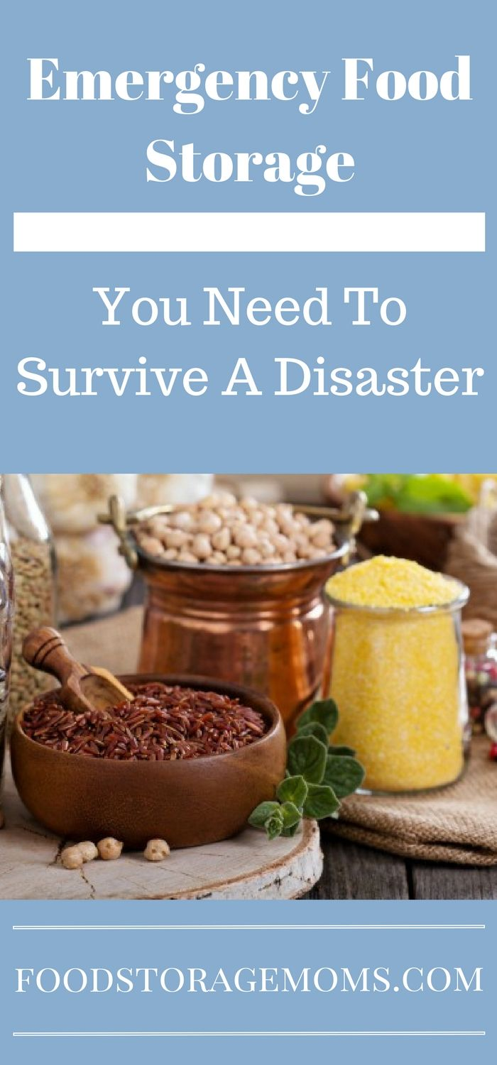 Emergency Food Storage You Need To Survive A Disaster