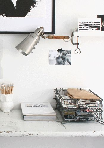great letter tray from www.bodieandfou.com to get your desk organised