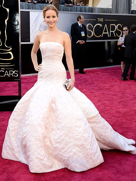 jennifer lawrence in dior haute couture / oscars 2013