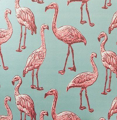 бирюзовые обои с фламинго 347502 Eijffinger