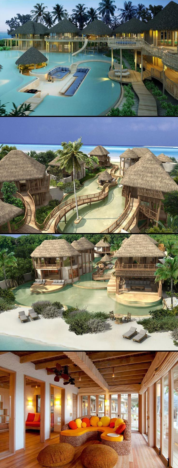 The beautiful island resort of Soneva Fushi, Maldives.