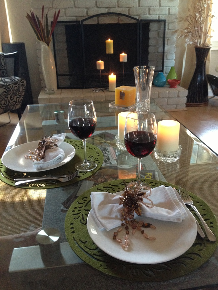 Romantic dinner at home home decor decorating ideas for Romantic meal ideas at home