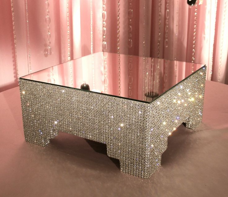 """12"""" Square, Crystal Cake Stand. $275.00, via Etsy."""