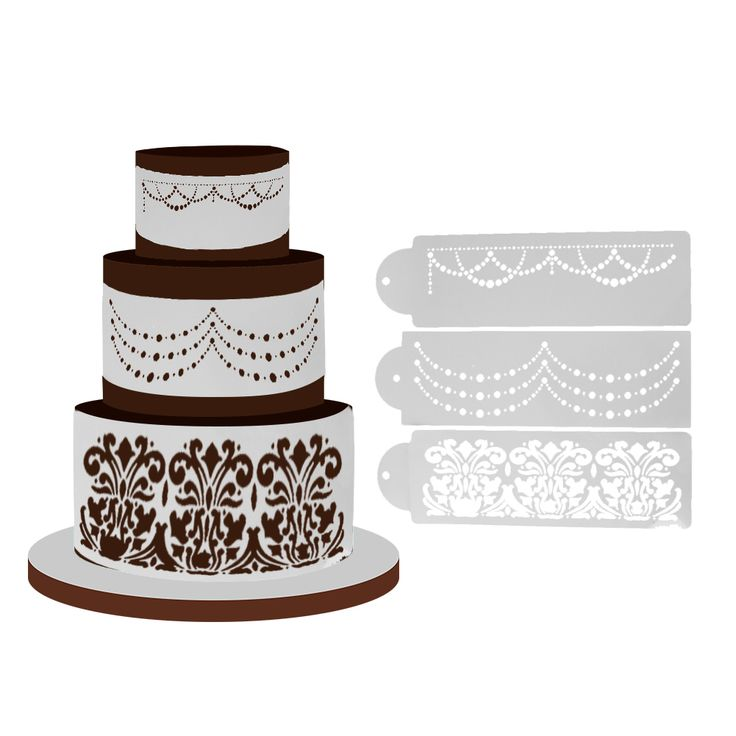Wholesale Product Snapshot Product name is 3pcs/Lot Cake Stencil Fondant Moulds Cake Decorating Sugar Sieve Cake Decoration Mold Kitchen Baking Cake Tools  E5M1