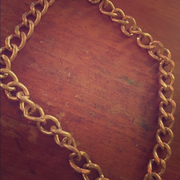 Thick gold gangstah chain Heavy, thick faux gold chain, but awesome and impressive. Very new never worn, no damage Jewelry Necklaces