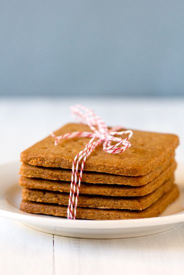 Homemade Graham Crackers- intriguing! The site says they are infinitely better than boxed: Buttery with a deep flavor from the graham flour, dark brown sugar and honey. Yum. These would make some delicious s'mores!