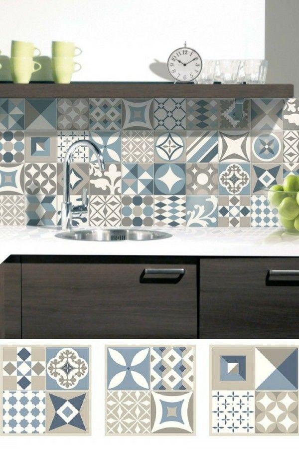 les 624 meilleures images du tableau carrelage adh sif sur. Black Bedroom Furniture Sets. Home Design Ideas