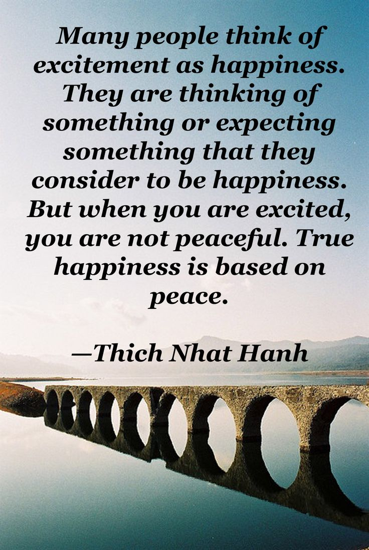 True happiness is based on peace