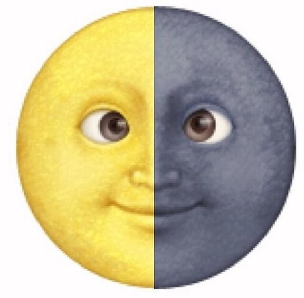 yellow moon emoji - photo #14
