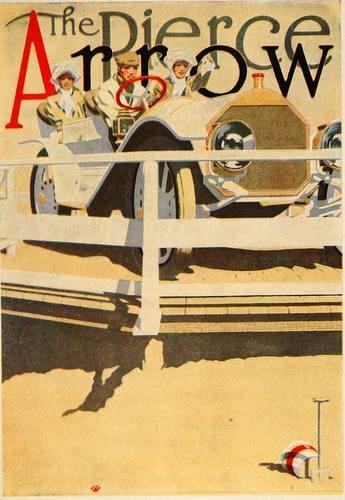 1913 Pierce Arrow Car Robert J Wildhack Mini Poster Original | eBay