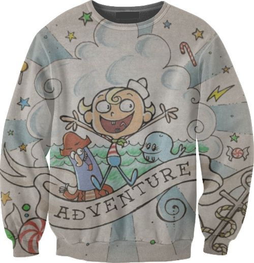The Marvelous Misadventures of FLAPJACK! I have never wanted a sweatshirt so much!!!