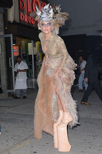 Lady Gaga Outfits, Fashion, Style, Dresses 2009 to 2012 (Vogue.com UK)