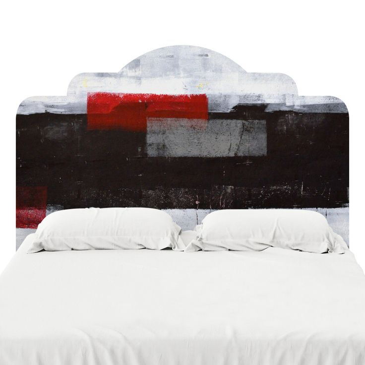 Red Over Black Headboard Decal