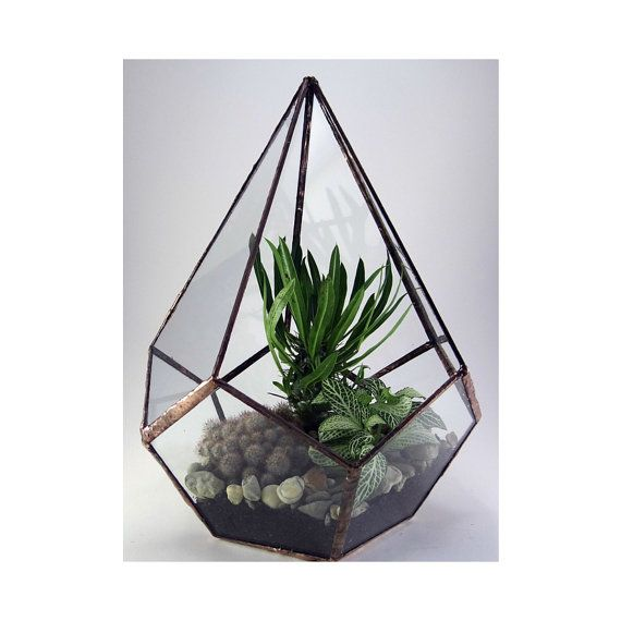 Geometric Florarium Terrarium by KorinArt on Etsy