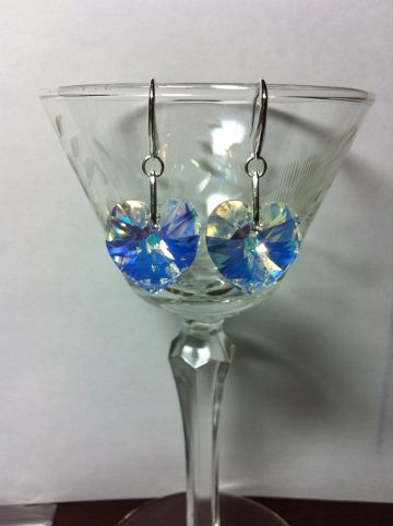 Crystal AB heart shaped ear rings.  Something new for the week...