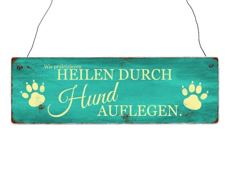 Türschild HEILEN DUCH HUND AUFLEGEN Hunde Tierarzt von Interluxe via dawanda.com