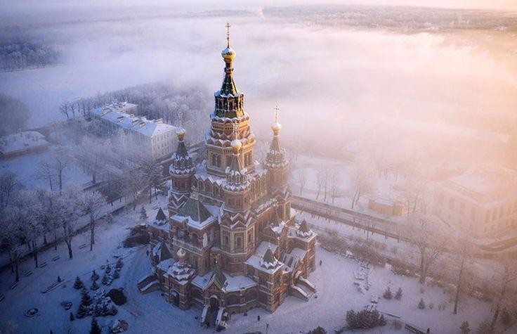 La cathédrale St. Peter & Paul, Peterhof, Russie