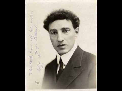 """Josef Lhevinne plays Schumann-Tausig """"El Contrabandista"""""""