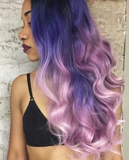 Two shades of purple dyed hair. Get #hairextension from @kinghaircom to add volume and length in minutes! Fresh your daily hair looking at  www.kinghair.com