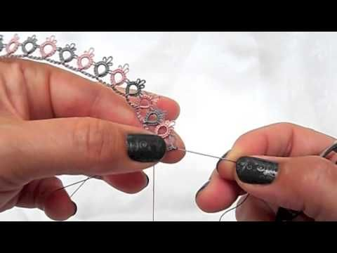 Tatting - The Blipless Join - Jane Eborall's Way - YouTube
