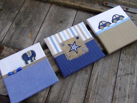 Kék-beige falikép kollekció babaszobába, gyerekszobába, Baba-mama-gyerek, Dekoráció, Gyerekszoba, Baba falikép, Meska