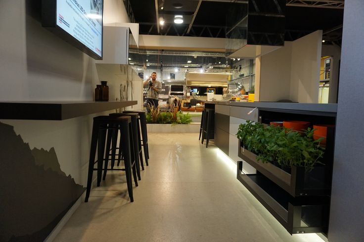 Applico Innovation Space Auckland & Hamilton Home Show's 2015 - Kitchen & Office Zones promoting new products from Smeg, The Laminex Group, Blum & Image Glass. Designed by Sonya Cotter Design