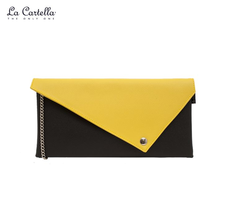 La Pochette Black and Yellow #lacartella #knob_design