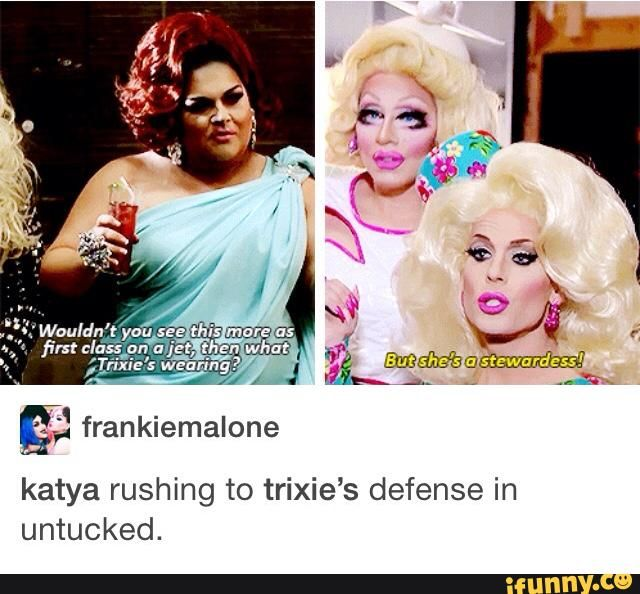 Trixie's outfit was AMAZEBALLS - Ging is just jelly because she couldn't pull it off - no diss to Ging but Trixie's mah girl  Gerelateerde afbeelding