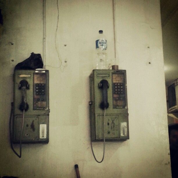 Abandoned payphone