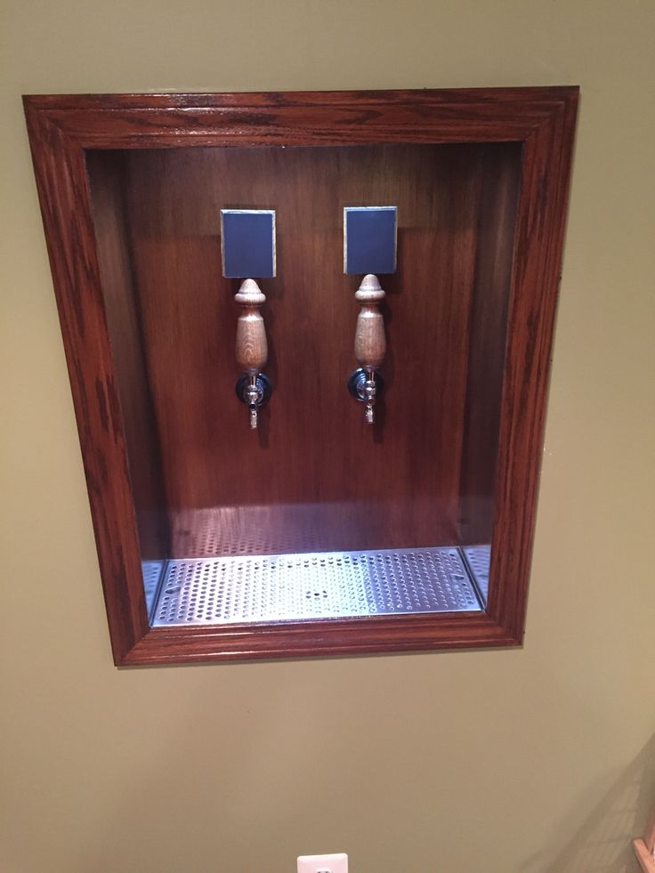 Homemade beer tap system.
