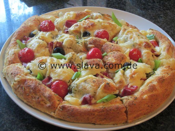 Mediterrane XXL Grill-Pizza-Schnecke mal anders « kochen & backen leicht gemacht mit Schritt für Schritt Bilder von & mit Slava