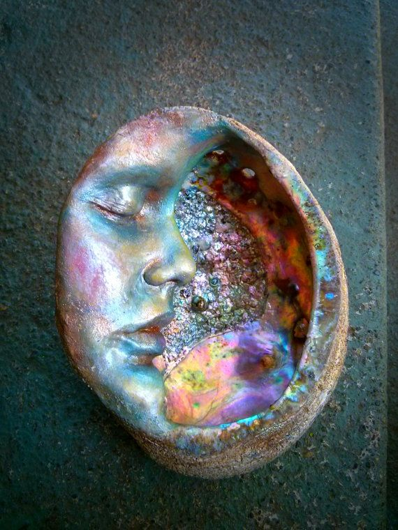 Moon Abalone Shell Altar Smudge Mother of Pearl by ShapingSpirit